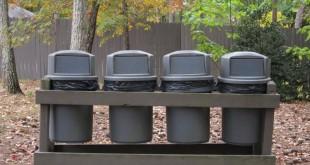 Hold stedet rent med udendørs skraldespande